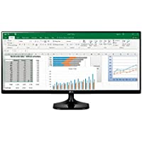 "LG 25UM58 Monitor per PC Desktop da 25"", UltraWide LED IPS, 2560 x 1080, 21:9, Multitasking, 2x HDMI, Nero"