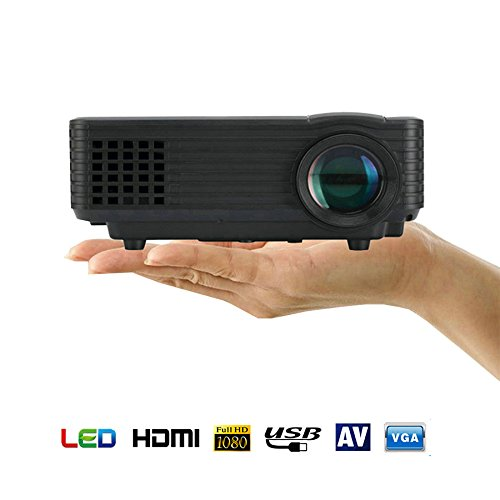 Mini Proyector LED, Kingcenton® Videoproyector Portátil 1080P LED LCD a Todo Color...
