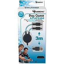 Nobilis - Play & Charge Dual (Cable Para Dos Mandos) (Nintendo Wii U)