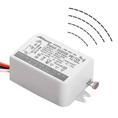 Sensor Schalter - 85-265 V Mikrowellen Smart Controller Menschlicher Körper Infrarot Schall Und Lichtsteuerung Energiesparender Licht Bewegungssensor Schalter - Für Korridor Badezimmer Lagertreppe -