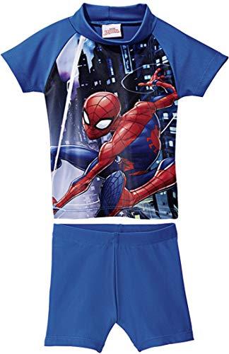 Golden Lutz® Kinder Jungen UV-Schutz-Anzug für Wasser und Strand, Zweiteilig (Spiderman, Gr. 98/104)