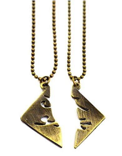 Nickel-metall-schatten (1 Satz Von Zwei Ketten Stadt Knochen Die Sterblichen Instrumente Runen Parabatai Shadowbronzefarbe)