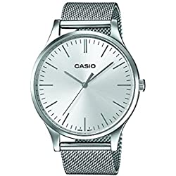 Casio Collection Reloj Analógico de Cuarzo Unisex con Correa de Acero Inoxidable – LTP-E140D-7AEF