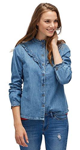 TOM TAILOR DENIM für Frauen Shirt  Blouse Bluse mit Rüschen