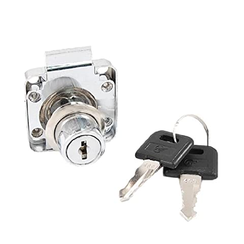 Serrure (métal ton argenté)-Casier Boîte aux lettres/tiroir avec 2 clés