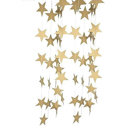 riroad pastello perfezione Sparkling Star Ghirlanda Bandierine per matrimoni o feste, diametro: 10cm.