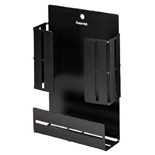 Hama VESA-Halterung (für TV-Zubehör wie Fernbedienungen, Kabel, externe Festplatten, Montage an Fernsehrückwand oder Wand, 15,0 x 4,5 x 20,5 cm) schwarz