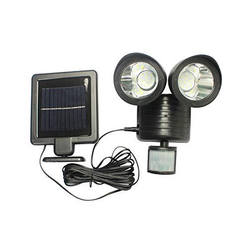 0 ℃ Outdoor Lámpara Solar De Los Focos De La Cabeza Doble...