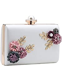 Babeyond Flower Clutch Purse Wallet Flower Clutch Bags With Strap Floral Clutch Handbag With Pearl For Evening...
