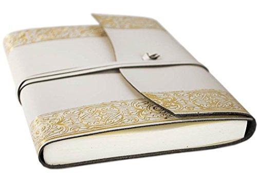 LEATHERKIND Angelus Diario de Cuero Reciclado Gold, A5...