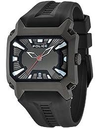 Police 13600JSB/61 - Reloj analógico de cuarzo para hombre con correa de silicona, color negro