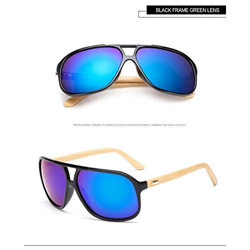Taiyangcheng Spiegel Ursprüngliche Holz Sonnenbrille Frauen Mode Fahren Großen Rahmen Googles Männer Holz,Schwarz Grün