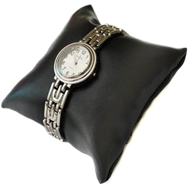 Schwarz, 7,6 cm, 12 St/ück Kissen f/ür Schmuck Uhrenkissen