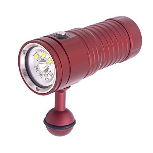 Haludock IPX8 Professional 100 Meter Unterwasserfotografie Video Licht Tauchen Taschenlampe Wasser Bestrahlungsentfernung 100-200M Licht High Power Uv-laser