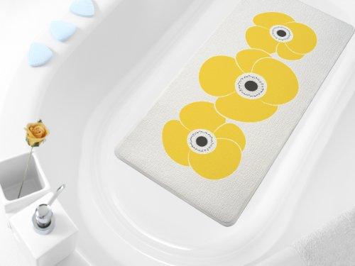 Wanneneinlage & Nackenpolster Petunia Blume gelb 36cm breit x 71cm lang Vinylschaum