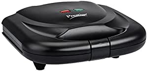 Prestige PSMFB 800 Watt Sandwich Toaster with Fixed Plates, Black