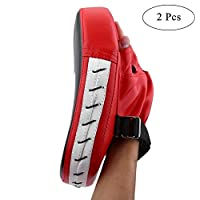 Boxing Punch Mitts Pads MMA Karate Muay Thai Kick Pad Focus Target Cushion PU Leather Two Pieces