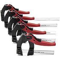 SGerste - Abrazadera de agarre rápido ajustable de 120 grados, 80 x 100/160/200/250/300 mm-90-300 mm