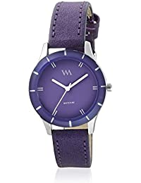 Watch Me Purple Dial Purple Leather Strap Watch For Girls WMAL-241 WMAL-241omtbg