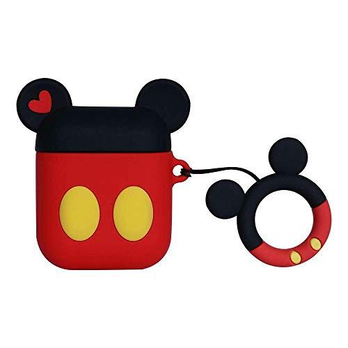 Tech Ex Schutzhülle für Apple Airpods (3D-Maus-Ohren, Cartoon-Charakter), Schwarz/Rot/Weiß gepunktet Mouse Ears (Florida Tech)