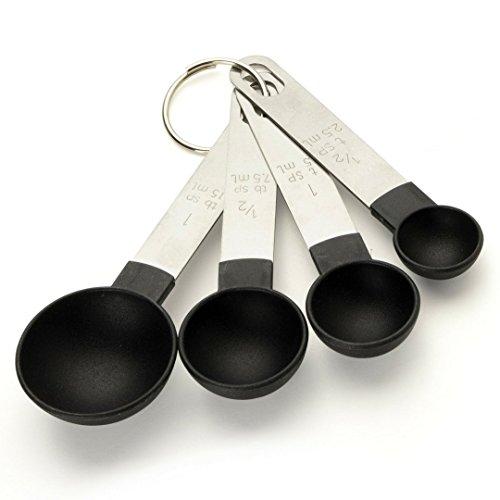 4er-Set Küchen-Messbecher-Größen: Becher für 59 ml, 78 ml, 118 ml, 236 ml. Stapelbar, zum Messen von trockenen und flüssigen Inhaltsstoffen beim Backen, Kochen, Rühren & Lebensmittelverarbeitung. PP-Kunststoff undEdelstahl. S