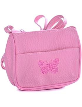 Bambine Butterfly Ricamato Piccolo/s Borsa A Spalla/Borsetta - Ideale Buste Regalo Riempitivi per bambine, (rosa...