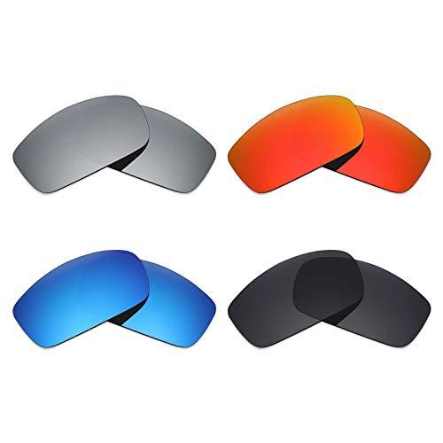 MRY 4Paar Polarisierte Ersatz-Objektive für Costa del Mar caballito sunglasses-stealth schwarz/fire rot/ice blau/Smaragd Grün