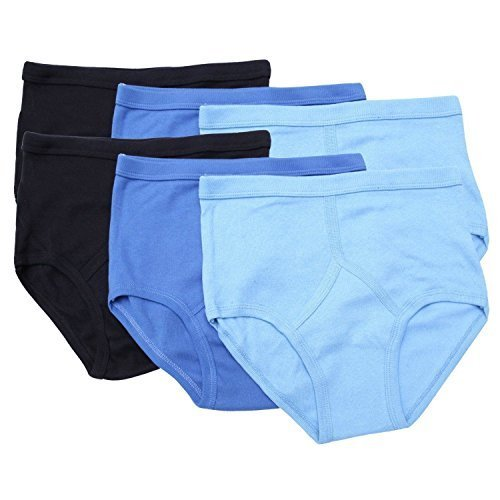 Preisvergleich Produktbild Mens Cotton Y Fronts 6 Pack Blues 4XL