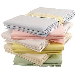 Baby flat sheets x 2 flannelette moses basket pram crib wrap