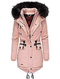 897328e0b464 Marikoo Rose Damen Winter Jacke Stepp Mantel Parka Winterjacke Warm  gefüttert