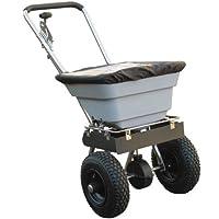 Elite Wahl Handlich Edelstahl Push Gras, FEED & Salz Streuwagen 3Meter Streubreite 36kg Kapazität (1)–Min 3Jahre Garantie