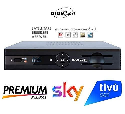 Digiquest Nagra Box Combo Decoder Ufficiale Per Mediaset Premiumsky Terrestre E Tivusat