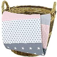 Colcha para bebé de ULLENBOOM ®, 10 diseños (manta de arrullo para bebé de 70x100 y 100 x 140 cm; ideal colcha para el cochecito; apta también alfombra de juegos)