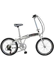 """Bicicleta plegable Gotty CAMEL, Acero 20"""", Horquilla acero conificada, Manillar plegable, Cierre rápido en sillín, Caballete"""
