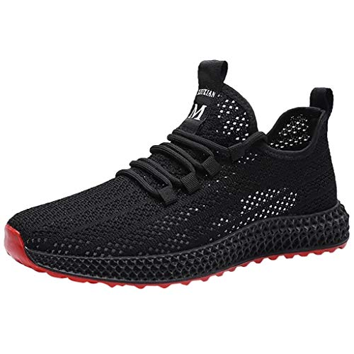 KERULA Sneakers, Fashion Lace up Sports Running Casual Breathable Sneakers Solid Shoes Athletic Day Ultra Lightweight Perforated Slip on Offroad Sport Sneaker füR Damen & Herren