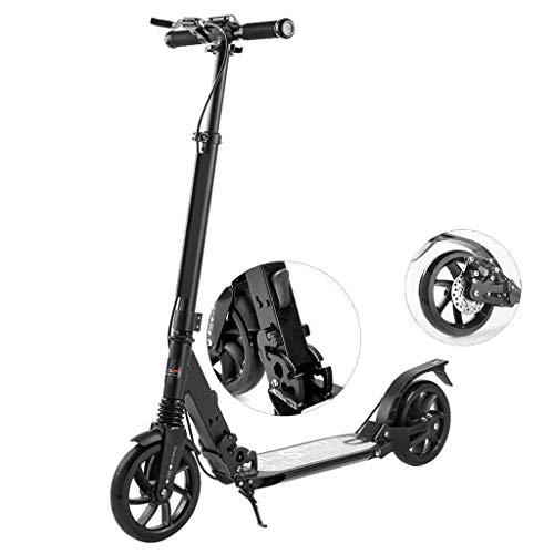 LQ-scooter Nicht-elektrischer Roller - Faltbarer, zweirädriger Stepper-Tretroller mit Bremsbelägen für Campus-Werkzeuge für Damen- / Herren-Kinder