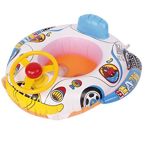 flo en tauchen HARRYSTORE Cartoon Lenkrad Schwimmring Float Sitz Boot Baby Ring Pool Schwimmen Aufblasbare Schwimmen Sicher Floß Kid Wasser Auto