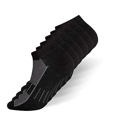 your+ Sportsocken Herren & Damen Sneaker Socken 6 Paar - Antibakteriell und Atmungsaktiv