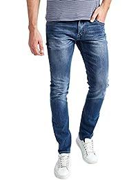 Mish Mash Mens Jeans UFO Blue Slim Tapered Fit Stretch RRP £70