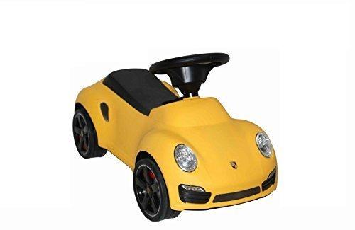 Kinderfahrzeug Baby Car Porsche 911 GELB, Kinderauto