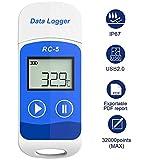 Therm - Rilevatore di temperatura e registratore digitale di dati USB con display LCD, capacità di registrazione di 32000punti 1PCS