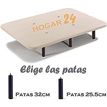 BASE TAPIZADA + 12 PATAS DE METAL CON TEJIDO 3D Y VÁLVULAS DE TRANSPIRACIÓN-180x200cm-PATAS 32CM (2 BASES DE 90CM CON ABRAZADERA)