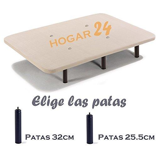 HOGAR24 Base TAPIZADA + 6 Patas DE Metal con Tejido 3D Y...