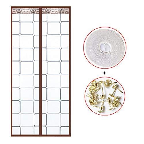 YSA Winddichte Eva Magnetic Screen Tür, selbstdichtende Magnetic Mesh Bug Screen Tür, Anti-Insekten-Bug Off Pet und Kid Friendly-b 85x205cm (33x81inch) -