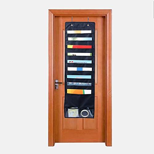 Hängende Datei Ordner Organizer mit 10 Taschen 4 Kleiderbügel Cascading Wall Organizer Perfekt für Klassenzimmer zu Hause oder im Büro Wand oder über der Tür zu montieren (Hängende Ordner Dateien)