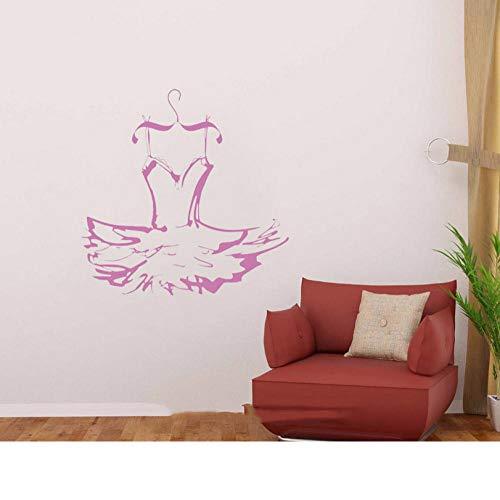 rylryl Kleid Ballerina Wall Dance Kostüm Aufkleber Vinyl Aufkleber Dekor Mädchen Zimmer Schlafzimmer Wohnzimmer Kunst Wandbilder 57x57cm