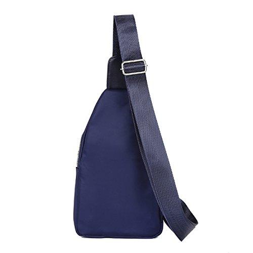 BULAGE Paket Paket Brustbeutel Männer Und Frauen Schulter- Messenger Mode Freizeit Wasserdicht Nylon Schmutz Schön Licht Blue