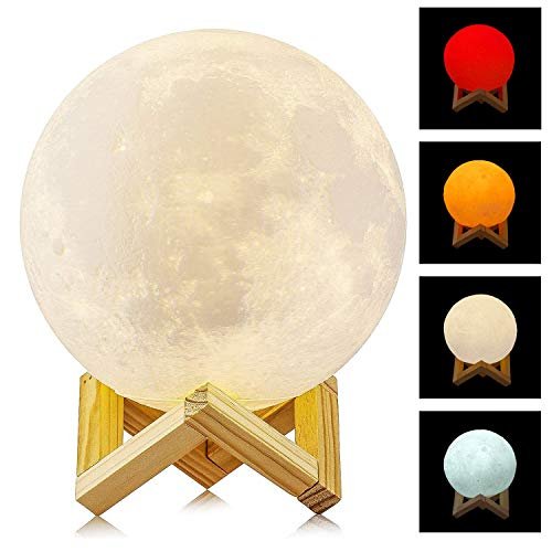 Neuheit 4 Farben Sensor-Touch Premium LED Mondlampe 15cm USB Aufladung Dimmbare Helligkeit Die Moon Lamp Ist Ein Perfektes Geschenk