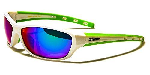X-Loop Sonnenbrillen Sport - Radfahren - Skifahren - Tennis - Running - Motorrad - Fashion / Mod. Cobalt Weiß Grün