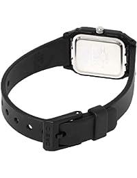 Casio 10088279- Correa para reloj, resina, color negro compatible con LQ-142